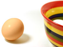 Egg and bowl Royalty Free Stock Photography