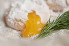 Cooking eggs still life Stock Image