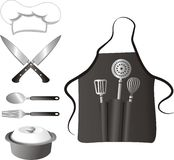 Cooking elements. Vector illustration of kitchen elements Royalty Free Stock Photo