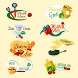 Cooking Emblems Set Royalty Free Stock Photo