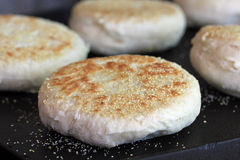Cooking English Muffins Royalty Free Stock Image