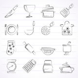 Cooking Equipment Icons Stock Image