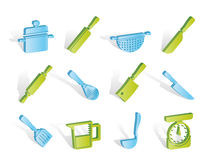 Cooking equipment and tools icons Royalty Free Stock Photo