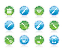 Cooking equipment and tools icons Stock Photo