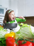 Cooking face Royalty Free Stock Photography