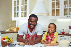 Cooking with father Royalty Free Stock Image