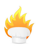 Cooking with fire illustration design Royalty Free Stock Photo