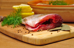 Cooking fish Royalty Free Stock Photo