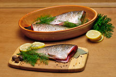Cooking fish Royalty Free Stock Images