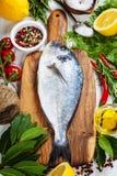 Cooking fish Royalty Free Stock Photos