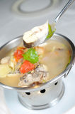 Cooking fish soup. Asia food Stock Photography