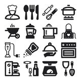 Cooking flat icons. Black Stock Photos