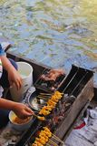 Cooking on floating market Stock Images