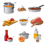Cooking food icon set Royalty Free Stock Image