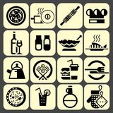 Cooking food icons set black Royalty Free Stock Image