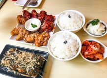 Korean friend chicken royalty free stock images