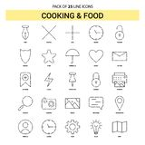 Cooking and Food Line Icon Set - 25 Dashed Outline Style. This Vector EPS 10 illustration is best for print media, web design, application design user vector illustration