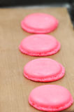 Cooking French Macarons Royalty Free Stock Photos