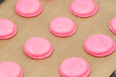 Cooking French Macarons Stock Images