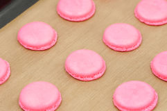 Cooking French Macarons Stock Photos