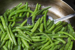 Cooking Fresh Green Beans Royalty Free Stock Image