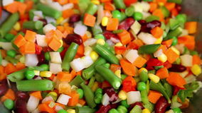 Cooking fresh vegetable mix with vapor Royalty Free Stock Image