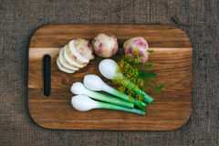 Cooking with fresh vegetables Stock Photography