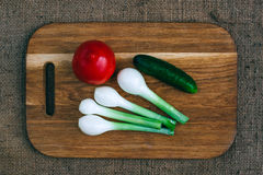 Cooking with fresh vegetables Royalty Free Stock Photos