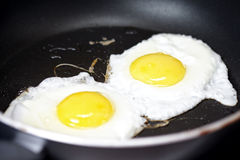 Cooking fried eggs Royalty Free Stock Photography