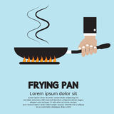 Cooking With Frying Pan Royalty Free Stock Image