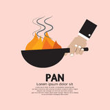 Cooking With Frying Pan. Vector Illustration Stock Images