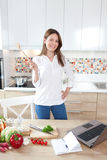 Cooking is fun Stock Images