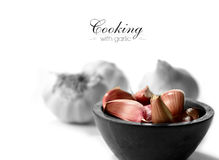 Cooking With Garlic Royalty Free Stock Photo