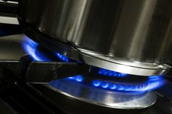 Cooking on Gas Royalty Free Stock Photo