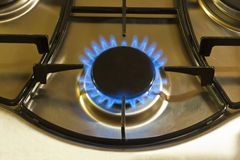 Cooking by gas light Royalty Free Stock Image