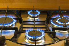 Cooking by gas light Royalty Free Stock Photo