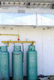 Cooking gas tank with ventulation tunnel Stock Image