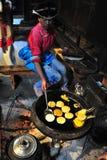 Cooking girl, The Ethnic minority Stock Photos