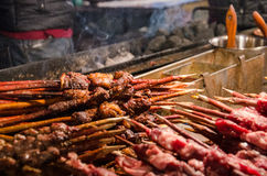 Cooking good sheep hoof. On the night market is selling has been cooking good look very delicious sheep hoof stock image