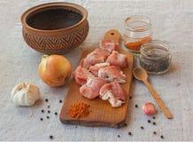 Cooking goulash Royalty Free Stock Image