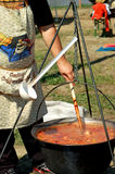 Cooking goulash soup Royalty Free Stock Images