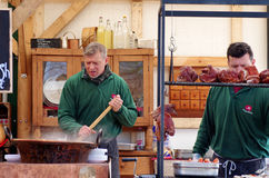 Cooking goulash Stock Photo