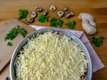 Cooking goutweed vegetables gratin, organic food Stock Image
