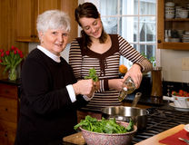 Cooking with Grandma. Royalty Free Stock Photography