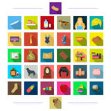 Cooking, hairdresser, textiles and other web icon in flat style.animal, bank, business icons in set collection. Stock Images