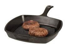 Cooking Hamburgers Stock Photography