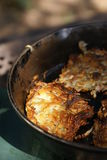 Cooking Hash Browns Stock Photography