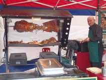 Cooking hog roast Royalty Free Stock Photo