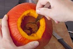 Cooking  hokkaido  pumpkin soup Stock Photo