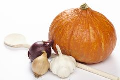 Cooking hokkaido pumpkins Stock Image